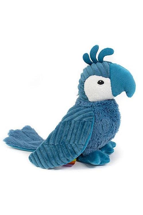 Peluche Ptipotos le perroquet bleu Les Déglingos