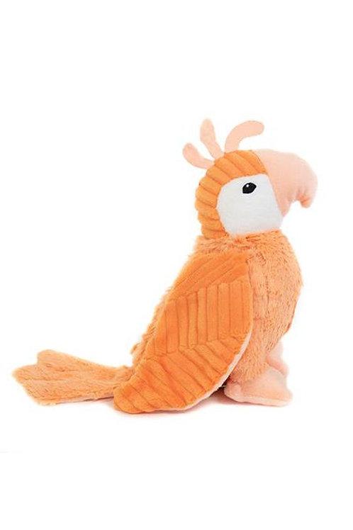 Peluche Ptipotos le perroquet orange Les Déglingos