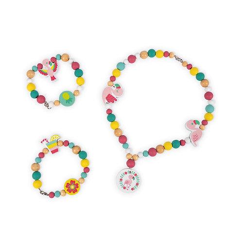 220 Perles Flamants Roses Birdy (bois) Janod