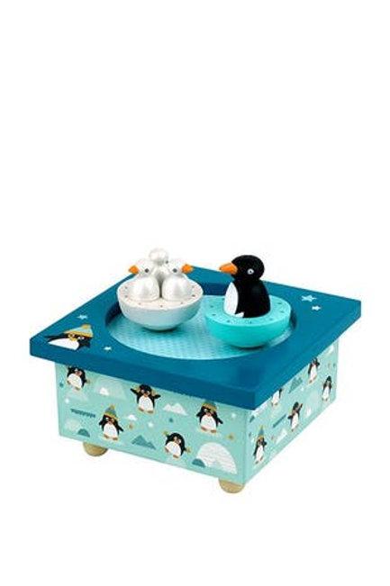 Boite à Musique Dancing Pingouins Trousselier