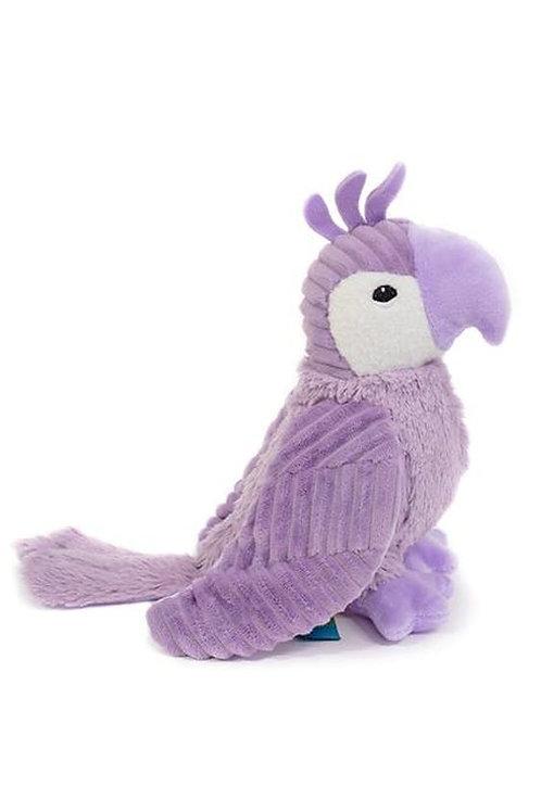 Peluche Ptipotos le perroquet violet Les Déglingos