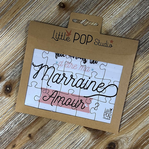 Puzzle annonce devenir MArraine Little pop Studio