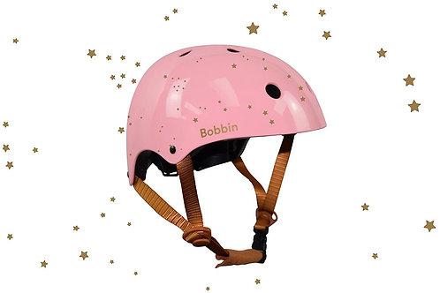 Casque rose étoile dorée Bobbin