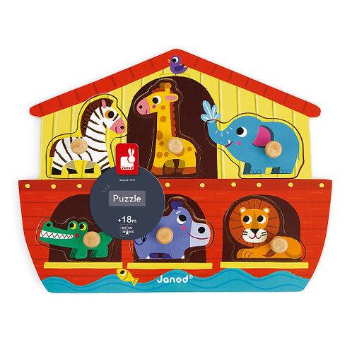 Puzzle Arche de Noé 6 pcs (bois) Janod