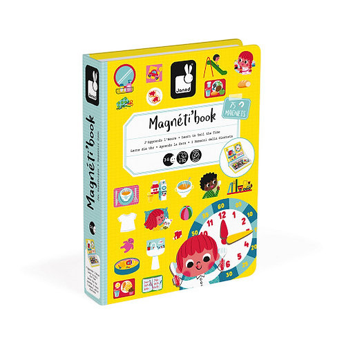 Magnéti'book j'apprends l'heure, 75 magnets Janod