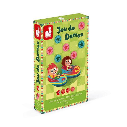 Jeu de dames carrousel (bois et carton) Janod