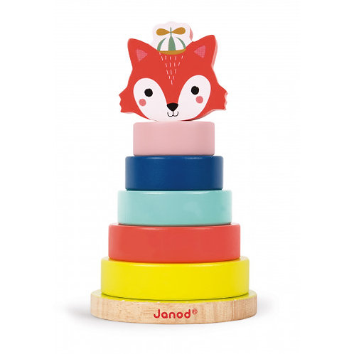 Empilable Renard Baby Forest (bois) Janod