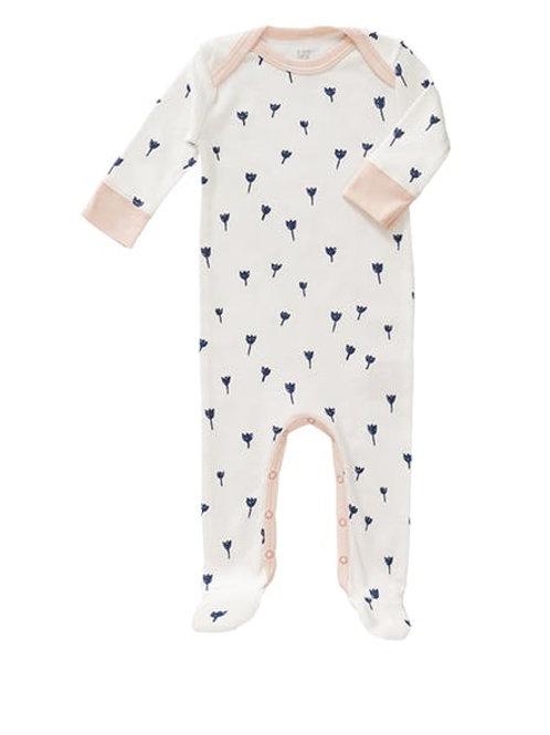 Pyjama avec pieds tulipe bleu indigo Fresk