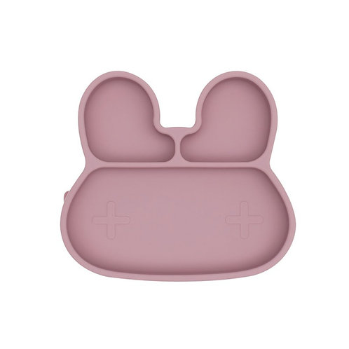 Assiette silicone lapin rose We might be tiny