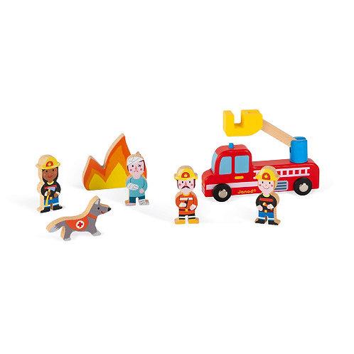 Set pompiers Story Janod