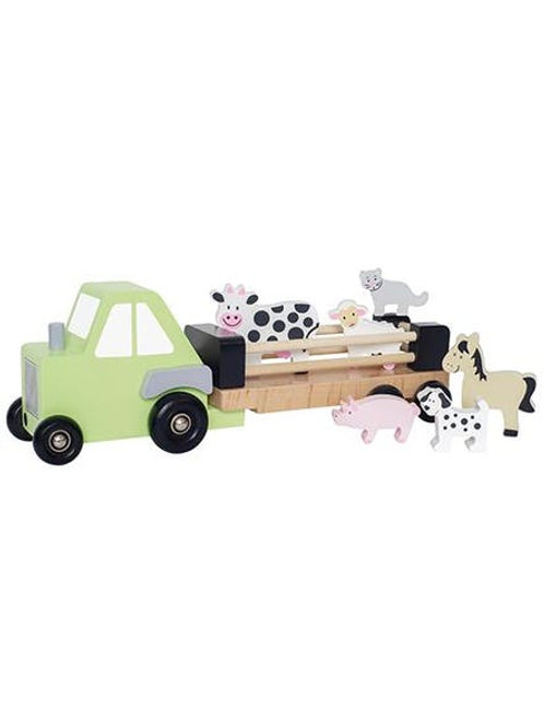 Camion remorque animaux bois Jabadabado