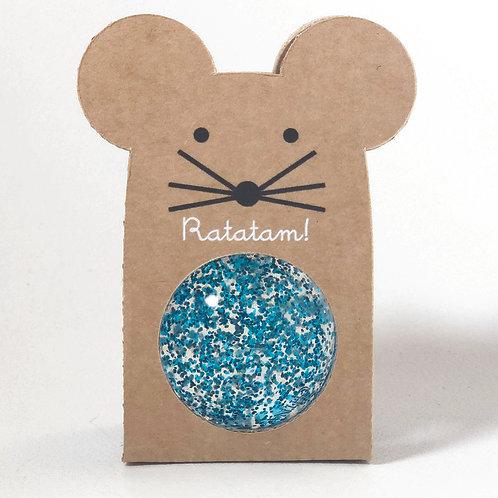 Balle souris rebondissante bleu Ratatam