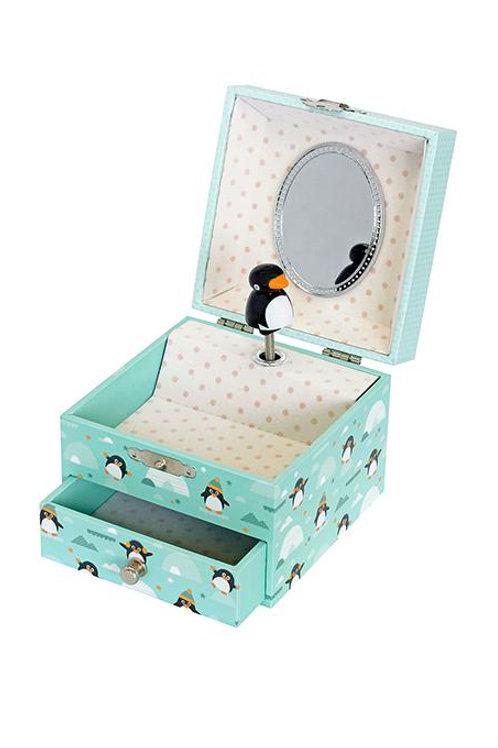 Boite à musique Pingouin cube Trousselier