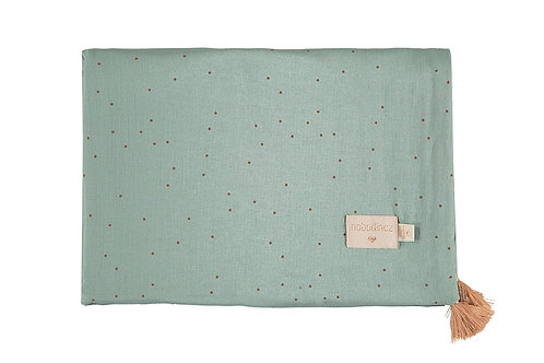 Couverture d'été Treasure toffee sweet dots eden green 70x100 Nobodinoz