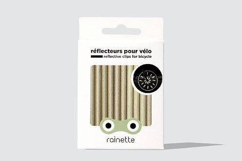 Réflecteurs pour roues de vélo or Rainette