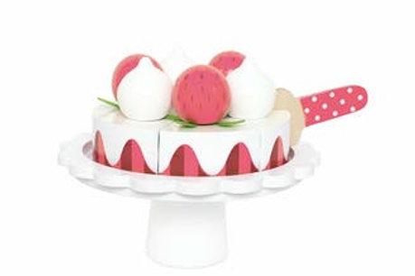 Gateau fraises et crème Jabadabado