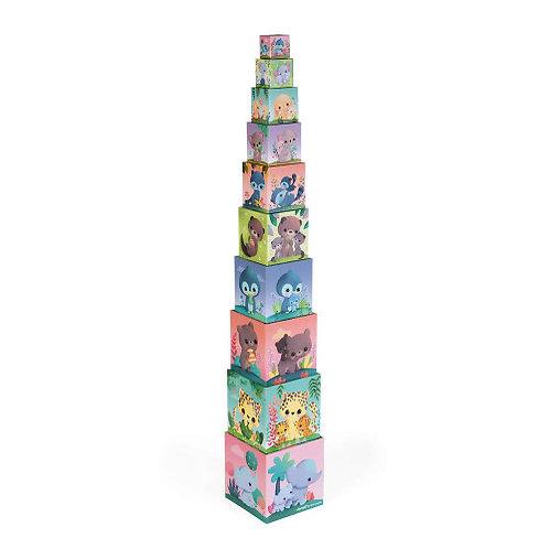Pyramide carrée les Animaux Tous Mignons Janod