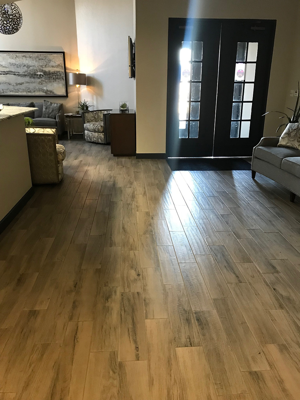 6x36 wood look plank tiles