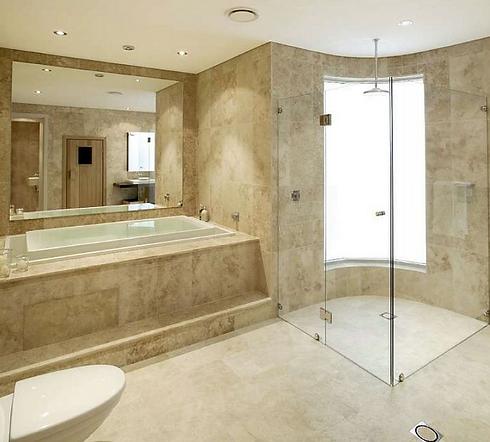 Bathroom bathtub and shower tile