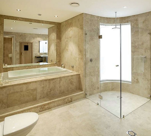 Bathroom bathtub and shower tile