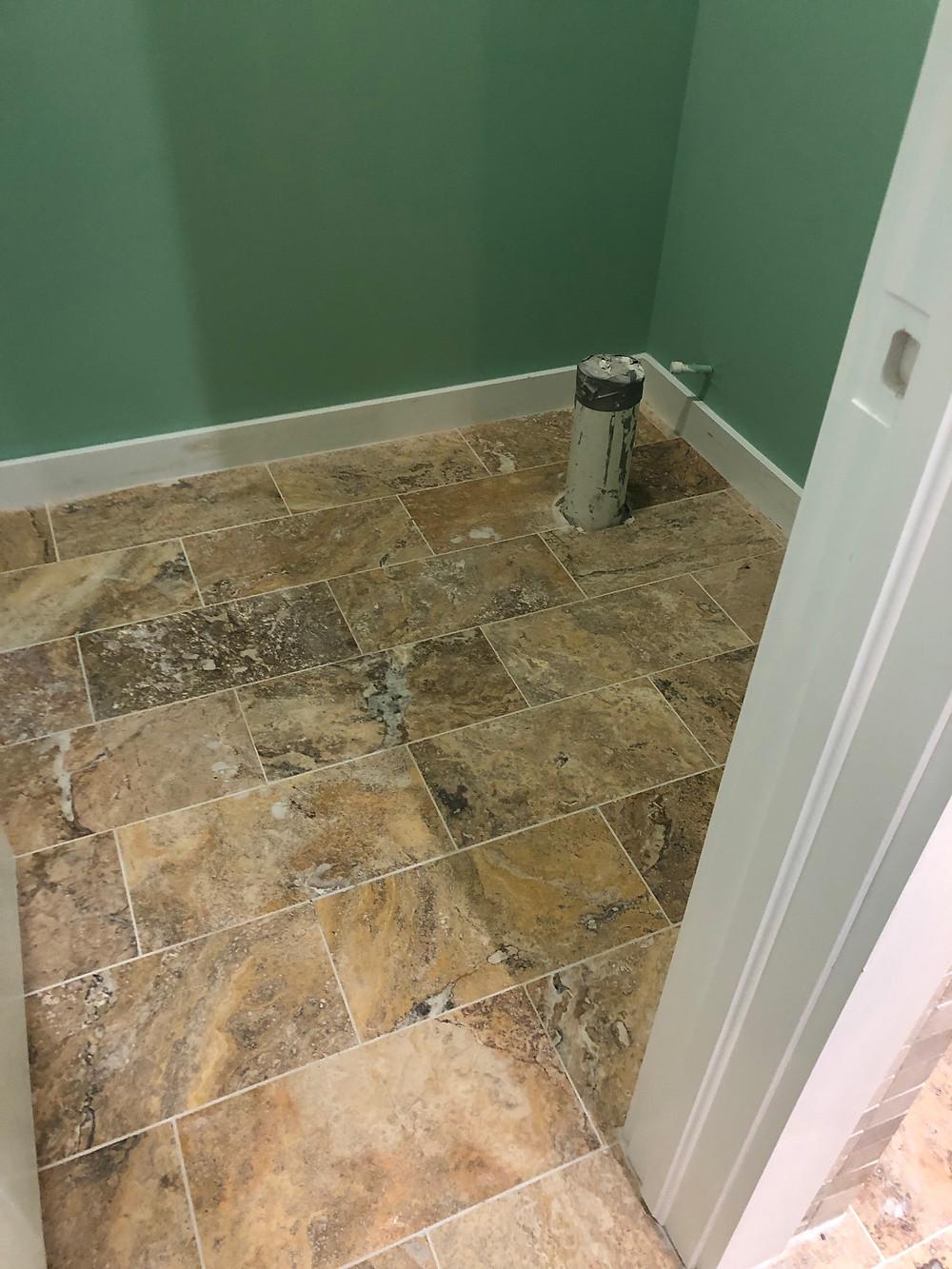 Travertine floor tile