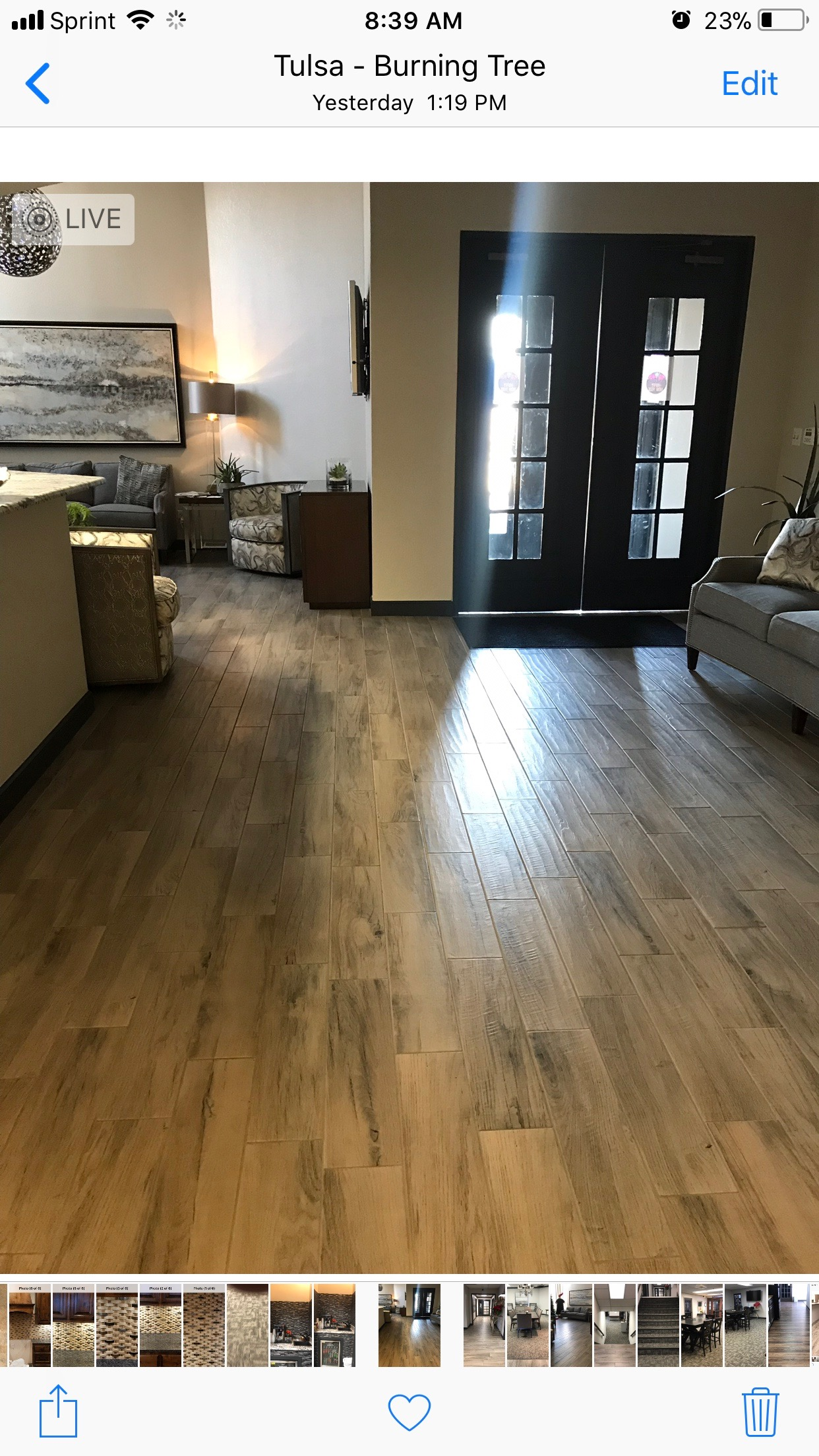 Wood look tile plank