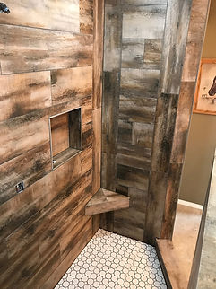 Wood look Tile Shower