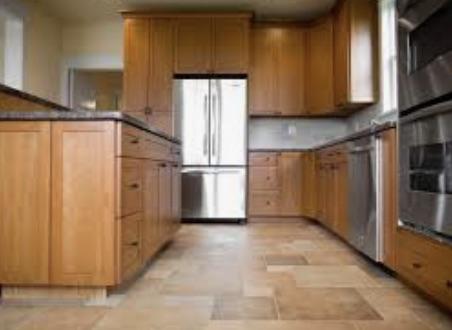 Kitchen remodeling, tile installed