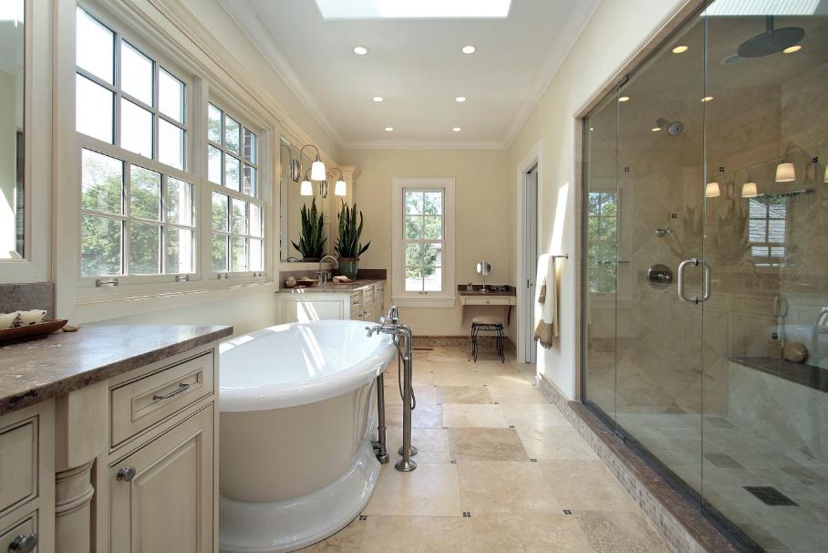 Bathroom remodel, Tile shower installation