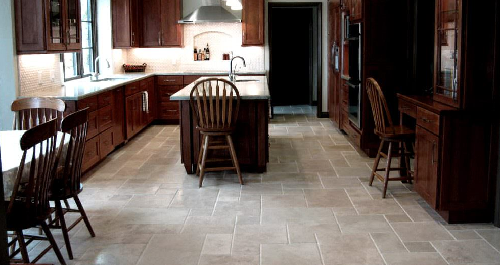 Natural Stone Installation, by B&W Designer Tile