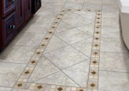 Tile w/ border pattern