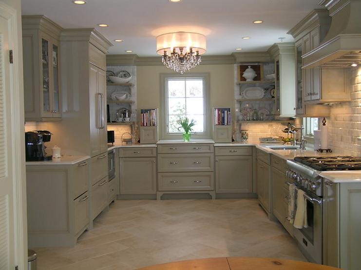 Kitchen flooring and backsplash tile