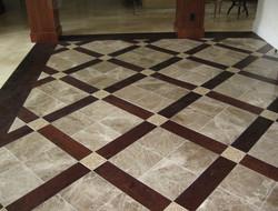 Patterned Flooring installation