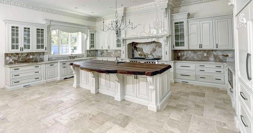 Floor tile installation by B&W Designer Tile