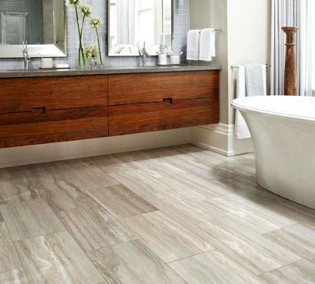 Flooring installed Bathroom