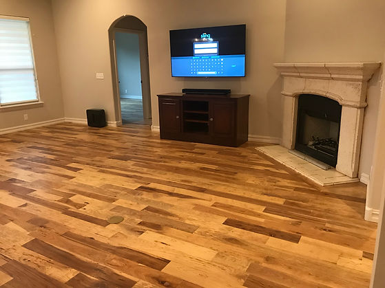Engineered flooring installation, Tulsa, OK