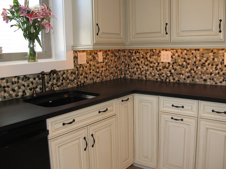 River Rock Backsplash