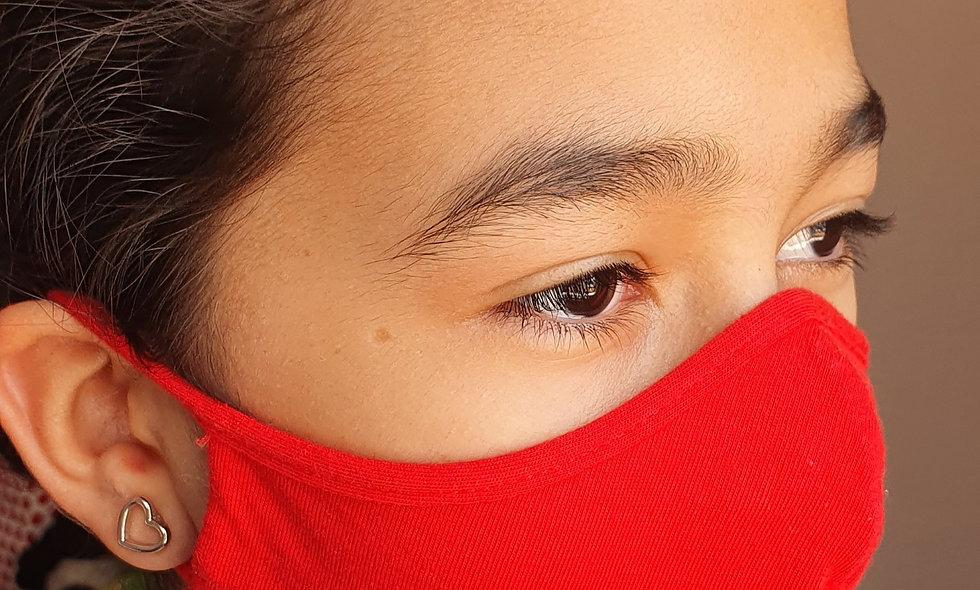 Máscaras de malha 100% algodão -Tamanho P