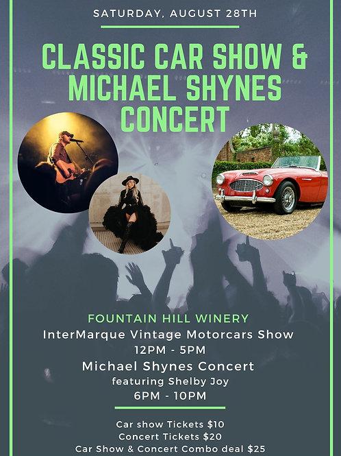 Michael Shynes Concert + Car Show Ticket
