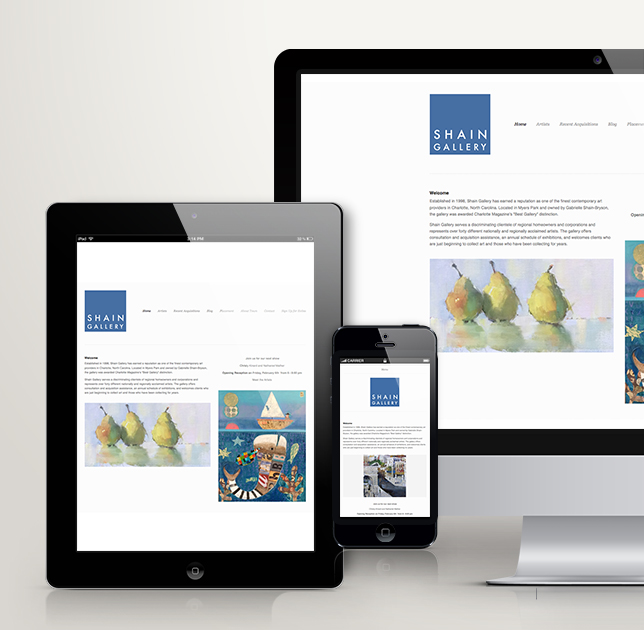 Shain Gallery Responsive Website