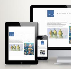 Shain Gallery Responsive Website