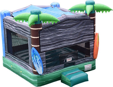 tropical bouncy castle hire summer surfing surf palm leaves jungle bouncy castle hire perth a bonza bounce party hire perth