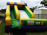 bonza bounce lil splash water slide wet dry slide hire perth
