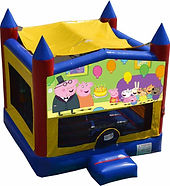 peppa pig bouncy castle hire perth a bonza bounce party hire perth