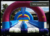 bonza bounce water slide hire perth twin lane wild splash