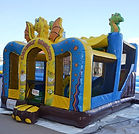 bonza bounce dinosaur bouncy castle hire perth