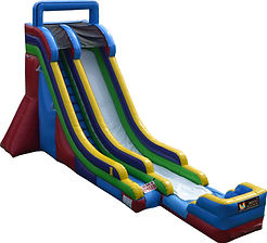 bonza bounce massive waterslide 22ft bonza waterslide hire perth