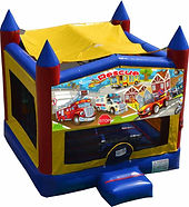 rescue heroes rescue vehicle bouncy castle hire perth a bonza bounce party hire