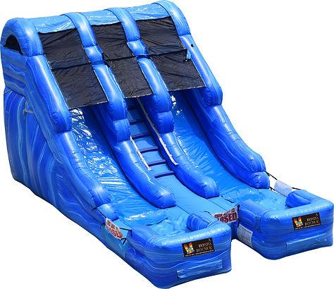 marble bonza blue twin lane water slide hire perth, tall slide hire perth bouncy castle hire perth a bonza bounce