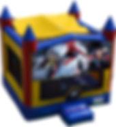 batman spiderman superman bouncy castle hire perth a bonza bounce party hire